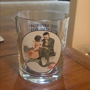 Norman Rockwell collectible drinking glass
